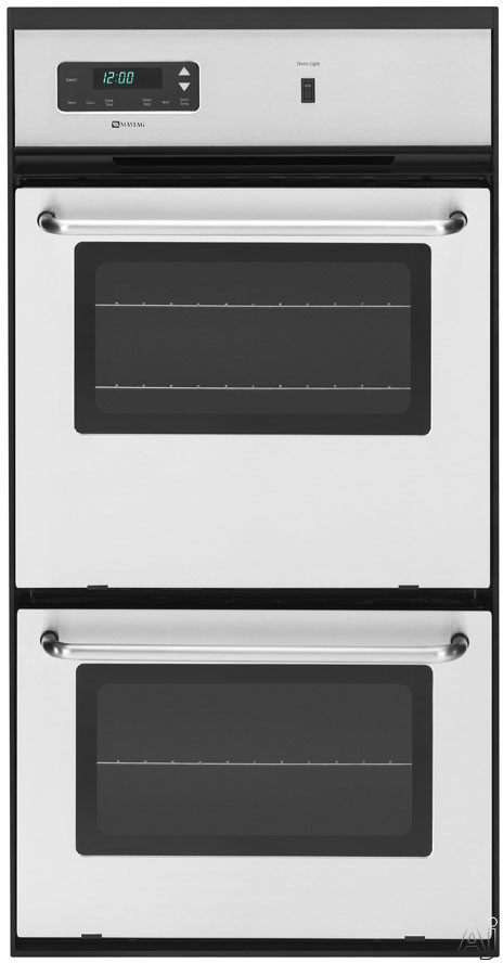 Maytag Cwg3600aas 24 Double Gas Wall Oven With 2 7 Cu Ft