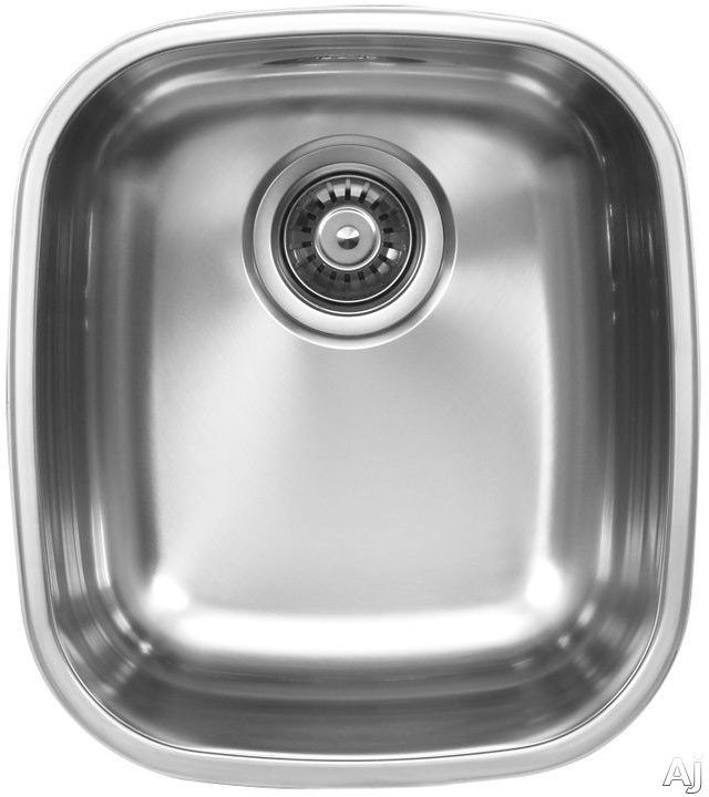 Ukinox D34510 14 Inch Undermount Single Bowl Stainless Steel Sink with 18 Gauge 18 10 Nickel Content Sound Absorbing Pads and European Polish Finish 10 Inch Bowl Depth