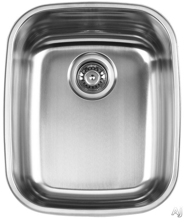 Ukinox D37610 16 Inch Undermount Single Bowl Stainless Steel Sink with 18 Gauge 18 10 Nickel Content Sound Absorbing Pads and European Polish Finish 10 Inch Bowl Depth