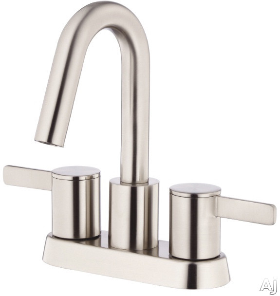 "Danze Amalfiâ""¢ Collection D301030BN Double Lever Centerset Lavatory Faucet with 3 3 4 Inch Reach 7 7 8 Inch High Spout Touch Down Drain Assembly and ADA Compliant Brushed Nickel"
