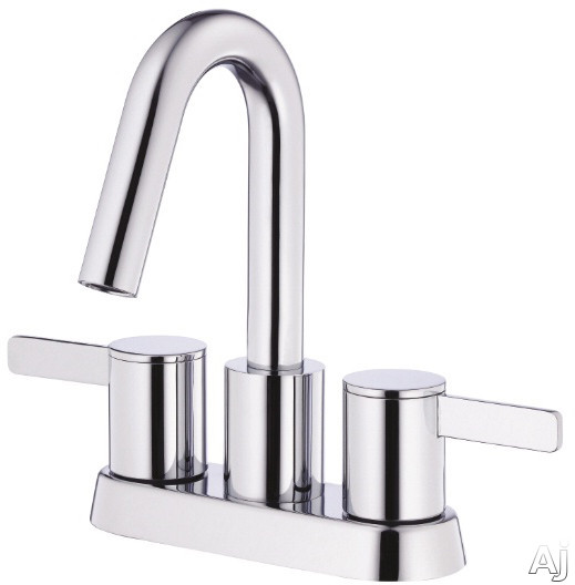 Picture of Danze Amalfi Collection D301030 Double Lever Centerset Lavatory Faucet with 3 34 Inch Reach 7 78 Inch High Spout Touch Down Drain Assembly and ADA Compliant Chrome