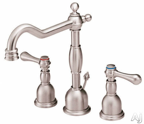 "Danze┬χ OpulenceέΕλ Collection D304057BN Double Lever Widespread Lavatory Faucet with 7"" Reach, 10"", U.S. & Canada D304057BN"