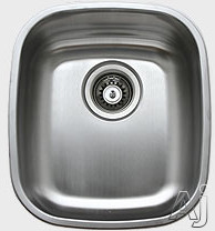 Ukinox D345 14 Inch Undermount Single Bowl Stainless Steel Sink with 18 Gauge 18 10 Nickel Content Sound Absorbing Pads and European Polish Finish