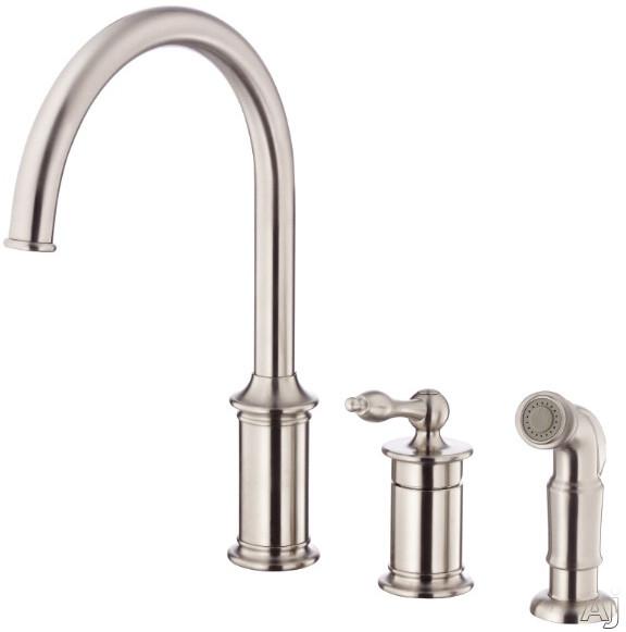 Danze D409010ss Single Lever Cast Spout Kitchen Faucet With 8 1 2 Reach 14 High Spout