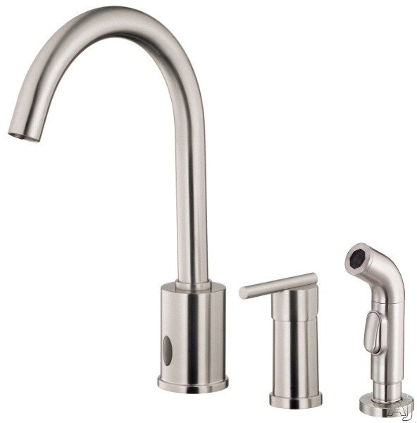 "Danze┬χ ParmaέΕλ Collection D423058SS Single Lever Cast Spout Kitchen Faucet with 9"" Reach, 15"" High, U.S. & Canada D423058SS"