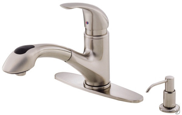 danze d454612ss single lever pull out kitchen faucet with 9 reach
