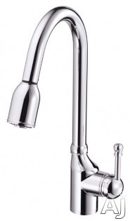 Danze┬χ MelroseέΕλ Collection D457015 Single Handle Kitchen Pull-Down Faucet with Quiet Running Hose, U.S. & Canada D457015
