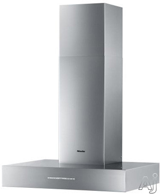 Miele DA531W Wall Mount Chimney Range Hood with 4 Speeds, Delayed Shutdown, Auto Shut-Off, Halogen Lights and Convertible to Recirculating