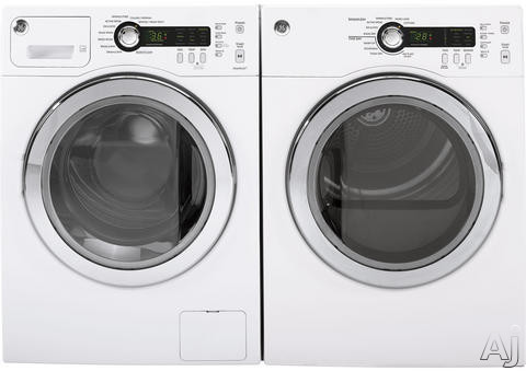 Washer and Dryer Side-By-Side (White)