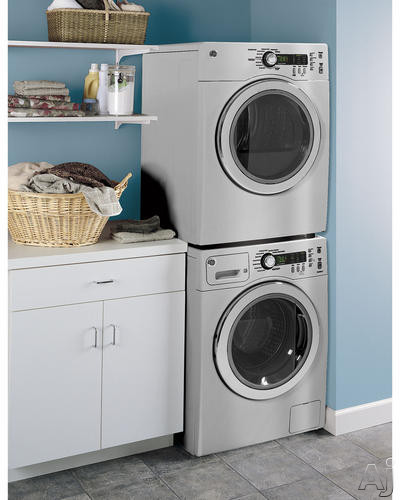 Washer/Dryer Stacked In Home (Metallic Silver)