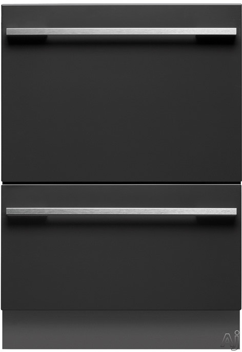 Fisher Paykel DishDrawer Series DD24DHTI7 Fully Integrated Double DishDrawer with Eco Option Delicates Cutlery Basket Delay Start 14 Place Setting Capacity 9 Cycles Adjustable Racks and Energy Star Ra