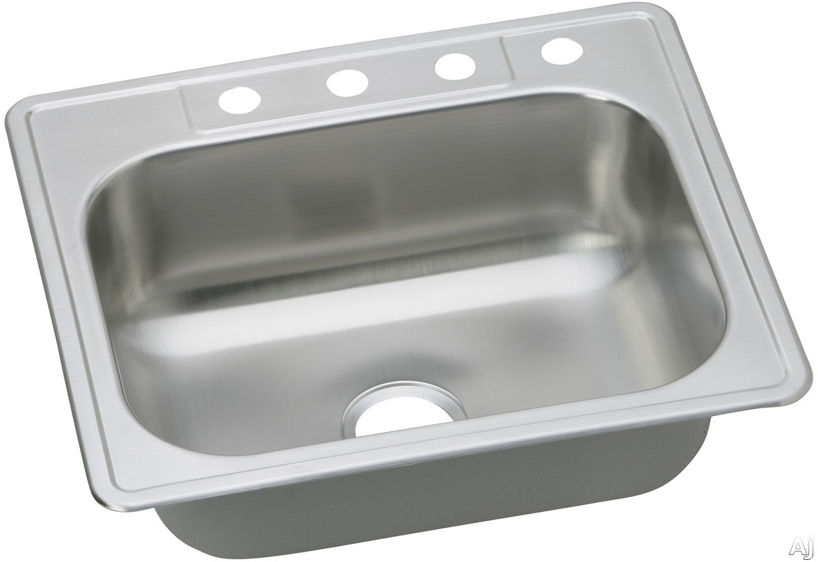 "Elkay Dayton Collection DDG125224 25"" Drop-In Stainless Steel Sink with 7 1 / 16"" Bowl Depth, U.S. & Canada DDG125224"