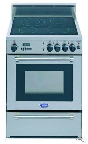 "Delonghi DEGLSC24SS 24"" Freestanding Electric Range With 4 Radiant Elements & Self-Cleaning Convection Oven"