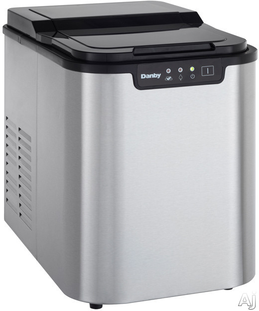 Picture of Danby DIM2500 Countertop Ice Maker with 25 Lbs Daily Production 2 Lbs Storage Capacity Electronic Controls LED Display and Ice Scoop Included