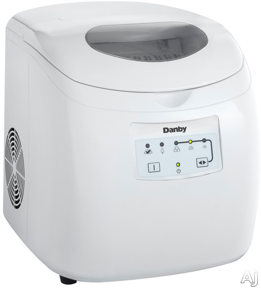 Picture of Danby DIM2500WDB Countertop Ice Maker with 25 lbs Daily Production 2 lbs Storage Capacity Electronic Controls LED Display and Ice Scoop Included White