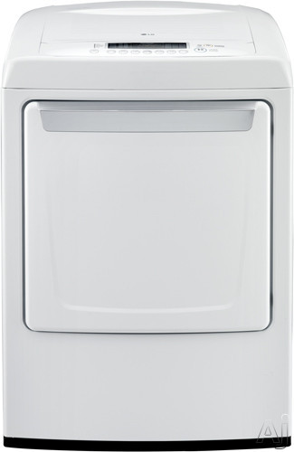 "LG DLE1101W 27"" Electric Dryer with 7.3 cu. ft. Capacity, 9 Dry Cycles, 7 Options, SmartDiagnosis, U.S. & Canada DLE1101W"