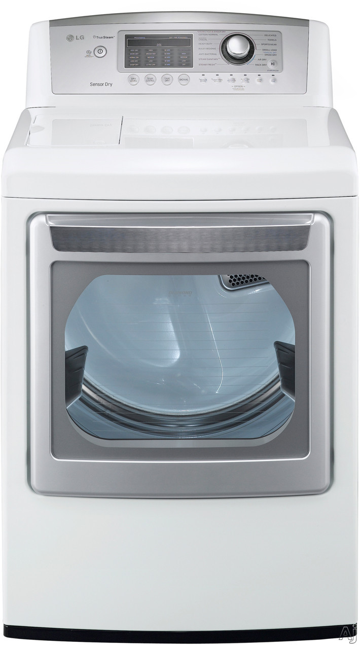 "LG SteamDryer Series DLEX5170W 27"" Electric Dryer with 7.3 cu. ft. Capacity, 14 Dry Cycles, 9, U.S. & Canada DLEX5170W"