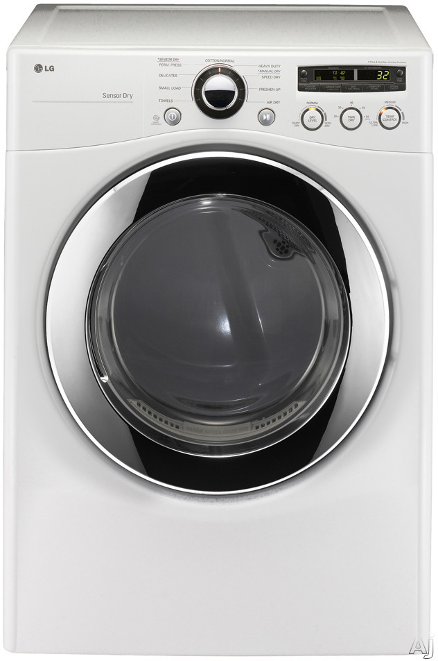 "LG DLE2350 27"" Electric Dryer with 7.3 cu. ft. Capacity, 9 Dry Programs, Sensor Dry, SmartDiagnosis, U.S. & Canada DLE2350"