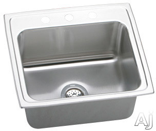 "Elkay Lustertone Collection DLR2219103 22"" Top Mount Single Bowl Stainless Steel Sink with 18-Gauge, U.S. & Canada DLR2219103"