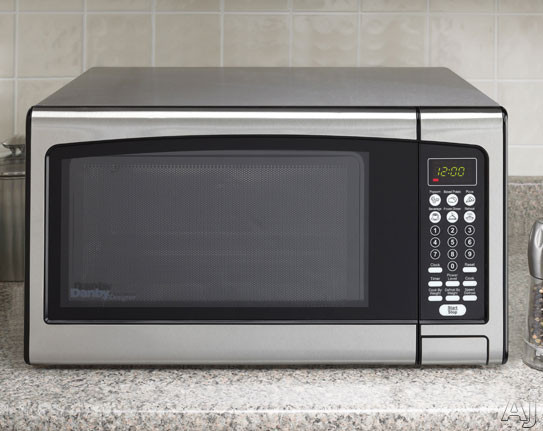Countertop Microwave Ovens With Stainless Steel Interior : Danby DMW111KPSSDD 1.1 cu. ft. Countertop Microwave Oven with 1000 ...