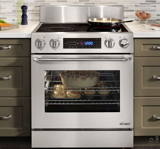 "Dacor Distinctive DR30EIS 30"" Slide-In Electric Range with 4.8 cu. ft. Convection Oven, 4 Burners, U.S. & Canada DR30EIS"