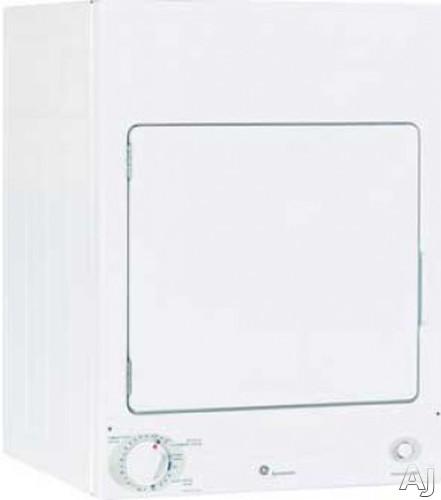ge dsks333ecww 24 u0026quot  stationary electric dryer with 3 6 cu