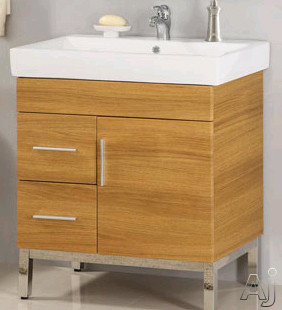 Empire Industries Daytona Collection DK3012BGPL 29 Inch Contemporary Vanity with Cabinet Door, 2 Drawers On Left Side, BLUM Hinges and Optional 30 Inch Kira Ceramic Countertop: Black Gloss, Polished F