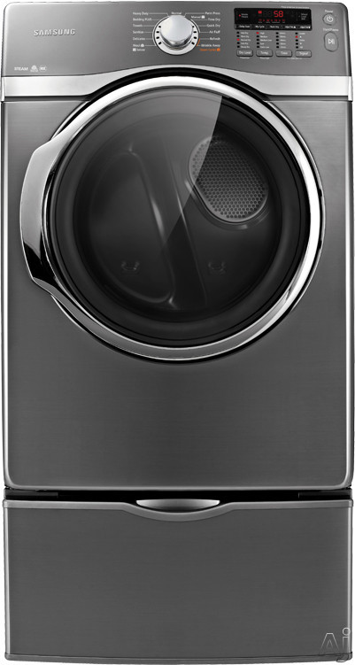 """Samsung DV405GTPA 27"""" Gas Dryer with 7.3 cu. ft. Capacity, 13 Drying Cycles, 8 Options, Steam Dry, U.S. & Canada DV405GTPA"""