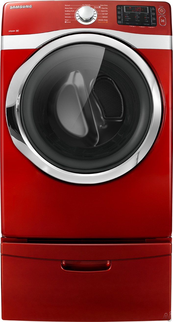 """Samsung DV435GTGJRA 27"""" Gas Dryer with 7.5 cu. ft. Capacity, 10 Options, Eco Normal Feature, Steam, U.S. & Canada DV435GTGJRA"""