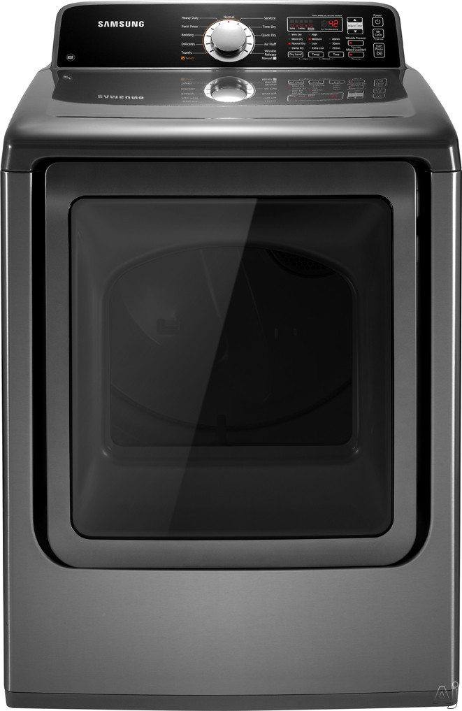 "Samsung DV456GWHDSU 27"" Gas Dryer with 7.3 cu. ft. Capacity, 11 Drying Cycles, 7 Options, 4, U.S. & Canada DV456GWHDSU"