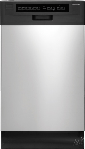 Frigidaire FFBD1821MS 18 Inch Full Console Dishwasher with Energy Saver, High Temperature Wash, China Crystal Cycle, Stainless Steel Tub, 6 Wash Cycles, 4 Wash Levels, dBA 55 Sound Rating, Delay Start