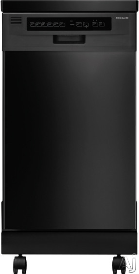 Frigidaire FFPD1821M 18 Inch Portable Dishwasher with Ready-Select® Controls, SpaceWise® Silverware Basket, Energy Saver Dry Option, 6 Cycles, China/Crystal Cycle, No Heat Dry Option, Delay Start, 59 dBA UltraQuiet™ and ENERGY STAR®