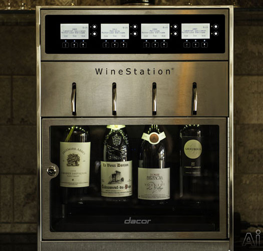 "Dacor Discovery DYWS4 20"" Wine Storage with 4-Bottle Capacity, Thermo-Electric Cooling System, LCD, U.S. & Canada DYWS4"