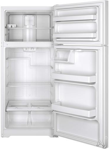 Ge Gts16dthww 15 5 Cu Ft Top Freezer Refrigerator With