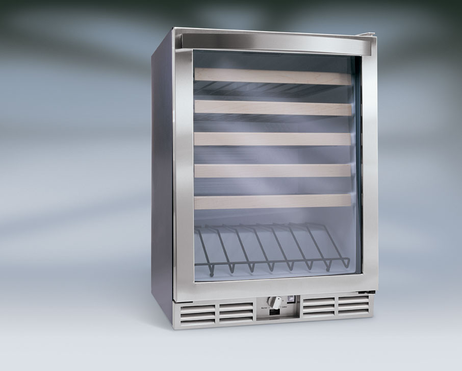 Electrolux E24wc48ebs 24 Inch Under Counter Wine Cooler With 48 Bottle Capacity Maple