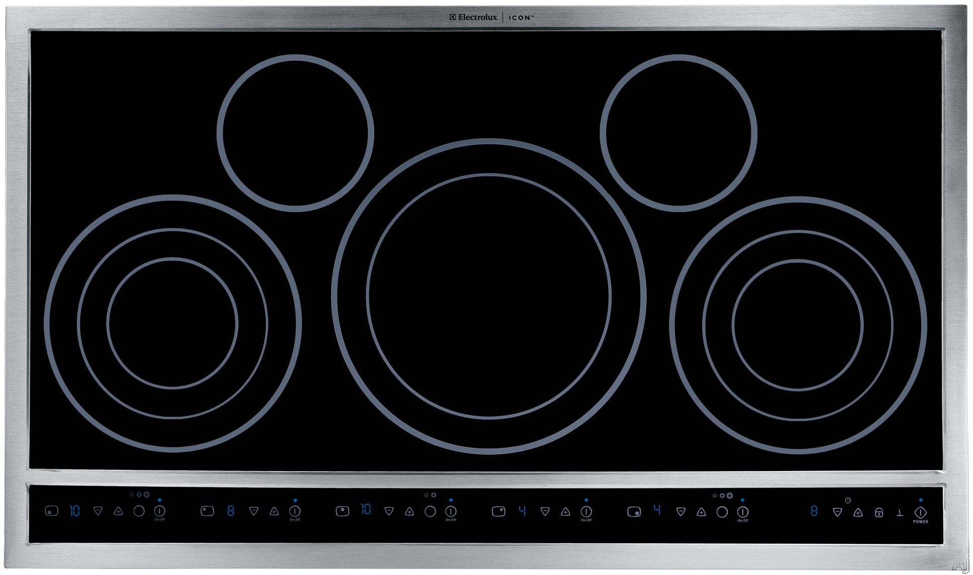 "Electrolux ICON Designer E36EC70FSS 36"" Drop-In Electric Cooktop with 5 Flexible Radiant Elements, Ceramic Glass Surface, Custom-Set Touch Controls, Keep Warm Setting, ADA Compliance, Hot Surface Indicator and Cooking Timer"