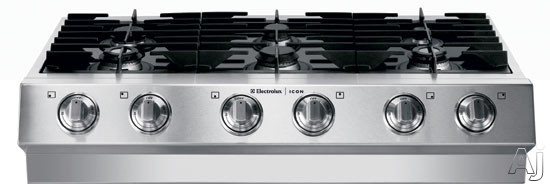 "Electrolux ICON Designer E36GC75GSS 36"" Pro-Style Gas Rangetop with 6 Sealed Burners Including 2, U.S. & Canada E36GC75GSS"
