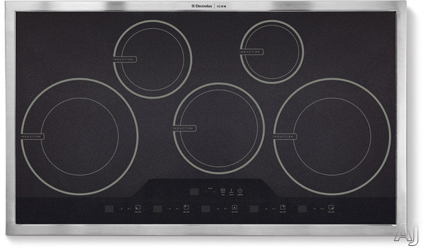 "Electrolux ICON Designer E36IC80ISS 36"" Induction Cooktop with 5 Induction Elements, Precision Touch, U.S. & Canada E36IC80ISS"