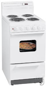 "Electronics - Premier EAK220O 20"" Freestanding Electric Range With 4 Coil Elements 2.4 Cu Ft Manual Clean Oven Electronic Clock Windowed Door And 8"" Porcelain Backguard"