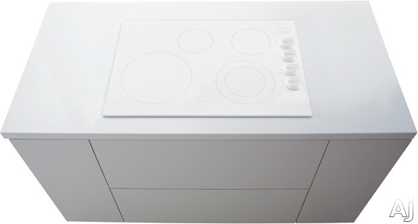 Frigidaire Gallery Series FGEC3045KW 30 Inch Electric Cooktop with 4 Heating Zones, SpaceWise Expandable 6 Inch/9 Inch Heating Zone, Ceramic Glass Construction, Express-Select Controls and Hot Surface
