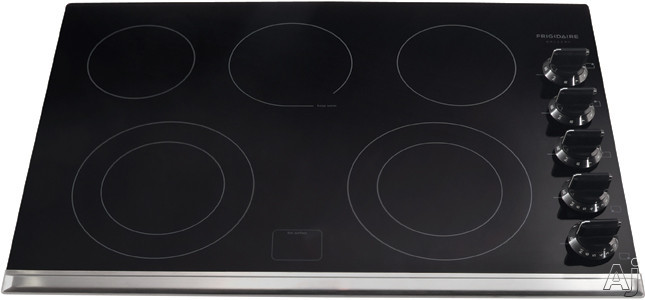 Frigidaire Gallery Series FGEC3067MB 30 Inch Electric Cooktop with 5 Heating Zones, 2 Expandable Elements, Keep Warm Zone, Ceramic Glass Construction, Express-Select Controls and Hot Surface Indicator