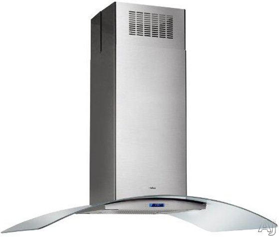 "Elica Cingoli Series ECN636SS 36"" Island Chimney Hood with 600 CFM Internal Blower, 4-Speed Touch, U.S. & Canada ECN636SS"