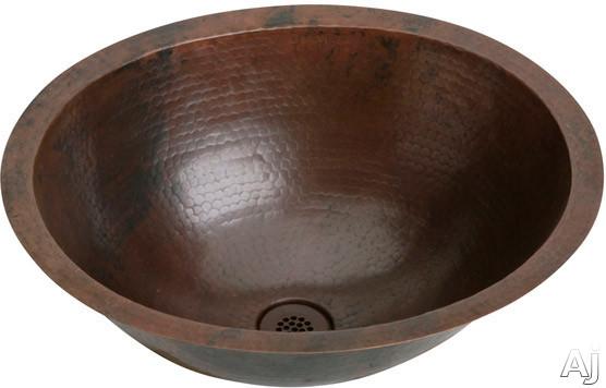 "Elkay Asana Collection ECU1714ACH 19"" Undermount Single Bowl Copper Lavatory Sink with 16-Gauge, 6-1, U.S. & Canada ECU1714ACH"