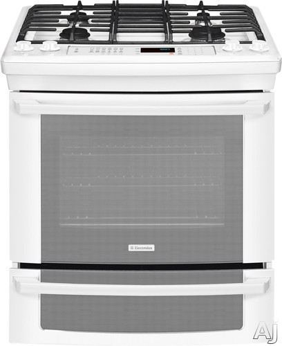 "Electrolux IQ-Touch Series EI30GS55LW 30"" Slide-in Gas Range with 4 Sealed Burners, 4.2 cu. ft., U.S. & Canada EI30GS55LW"