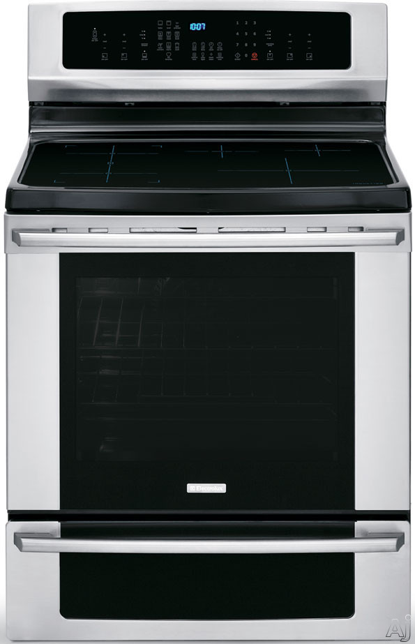 "Electrolux IQ-Touch Series EI30IF40LS 30"" Freestanding Induction Range with 5 Cooking Elements, 6.0 cu. ft. Convection Oven, Fresh Clean Self-Clean, Luxury-Glide Rack and Warming Drawer"