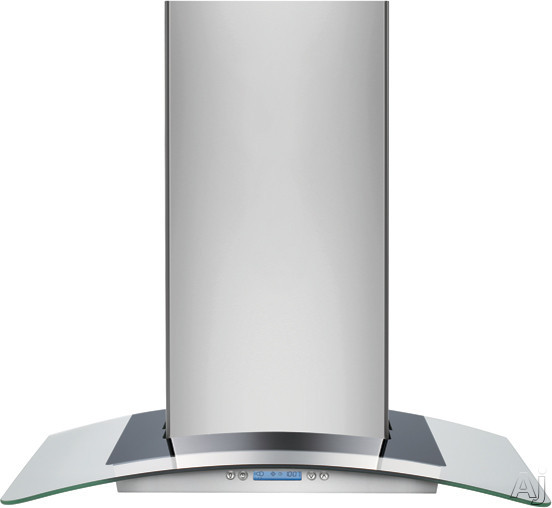 Electrolux RHWC60GS Designer Wall Mount Chimney Hood with 600 CFM Internal Blower, 4 Speed Electronic Control, 2 Halogen Lights and Glass Canopy