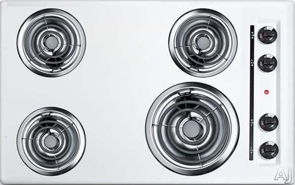 "Summit EL05 30"" Electric Cooktop with 4 Coil Elements, U.S. & Canada EL05"