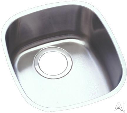 "Elkay Lustertone Collection ELUH1113 15"" Undermount Single Bowl Stainless Steel Sink with 18-Gauge, U.S. & Canada ELUH1113"
