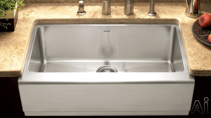 "Houzer Epicure Series EPG3300 33"" Apron Front Single Bowl Stainless Steel Farmhouse Sink with 16 /, U.S. & Canada EPG3300"