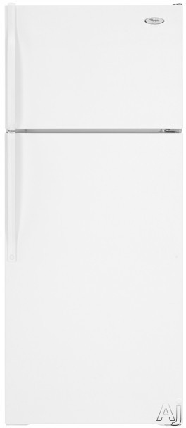 Freezers - Whirlpool ET8AHKXRQ 17.6 Cu Ft Top-Freezer Refrigerator With Accu-Chill Temperature Management SpillMizer Glass Shelving And Humidity-Controlled Crisper